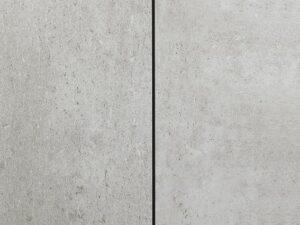 Meltex akustik med kork bagside - grå m/sort fuge